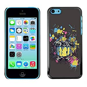linJUN FENGYOYO Slim PC / Aluminium Case Cover Armor Shell Portection //Abstract Zombie Rising Painting Art //Apple ipod touch 5