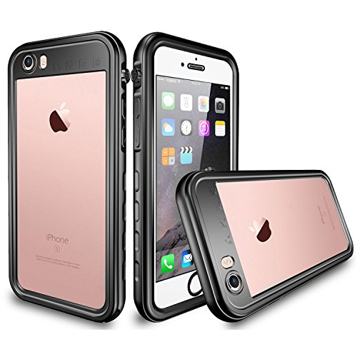 iPhone 6 / 6s Waterproof Case, Tomplus 6.6ft Underwater Waterproof Shockproof Dirtproof Snowproof Full Sealed Protective Case for Apple iPhone 6 / 6s 4.7 inch (T-Black)