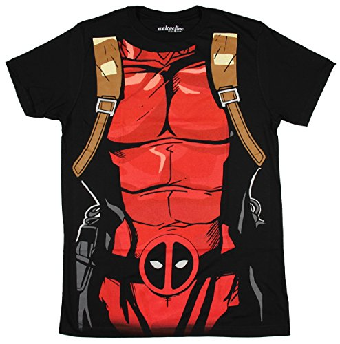 [Deadpool Black 30 Single Costume T-Shirt - Medium] (Marvel Colossus Costumes)