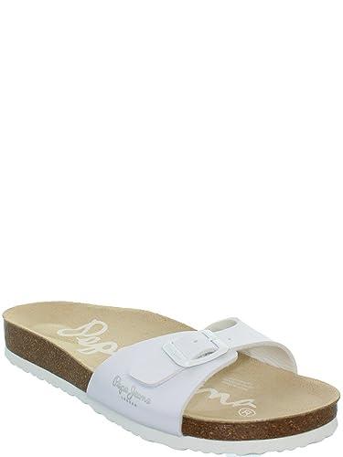 bcc24fb46026 Pepe Jeans - Sandales Pepe Jeans ref pep39365-blanc  Amazon.fr  Chaussures  et Sacs