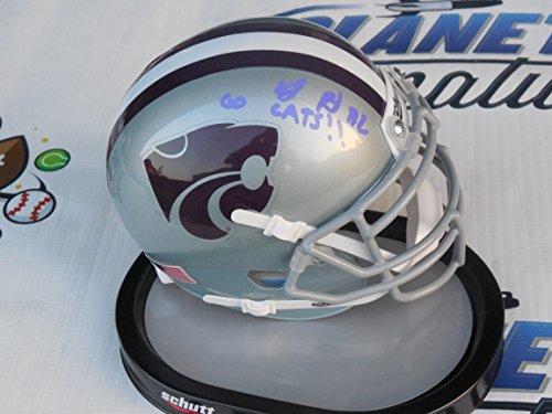 - DJ Reed signed Kansas K State KSU Wildcats mini helmet w/Go Cats COA