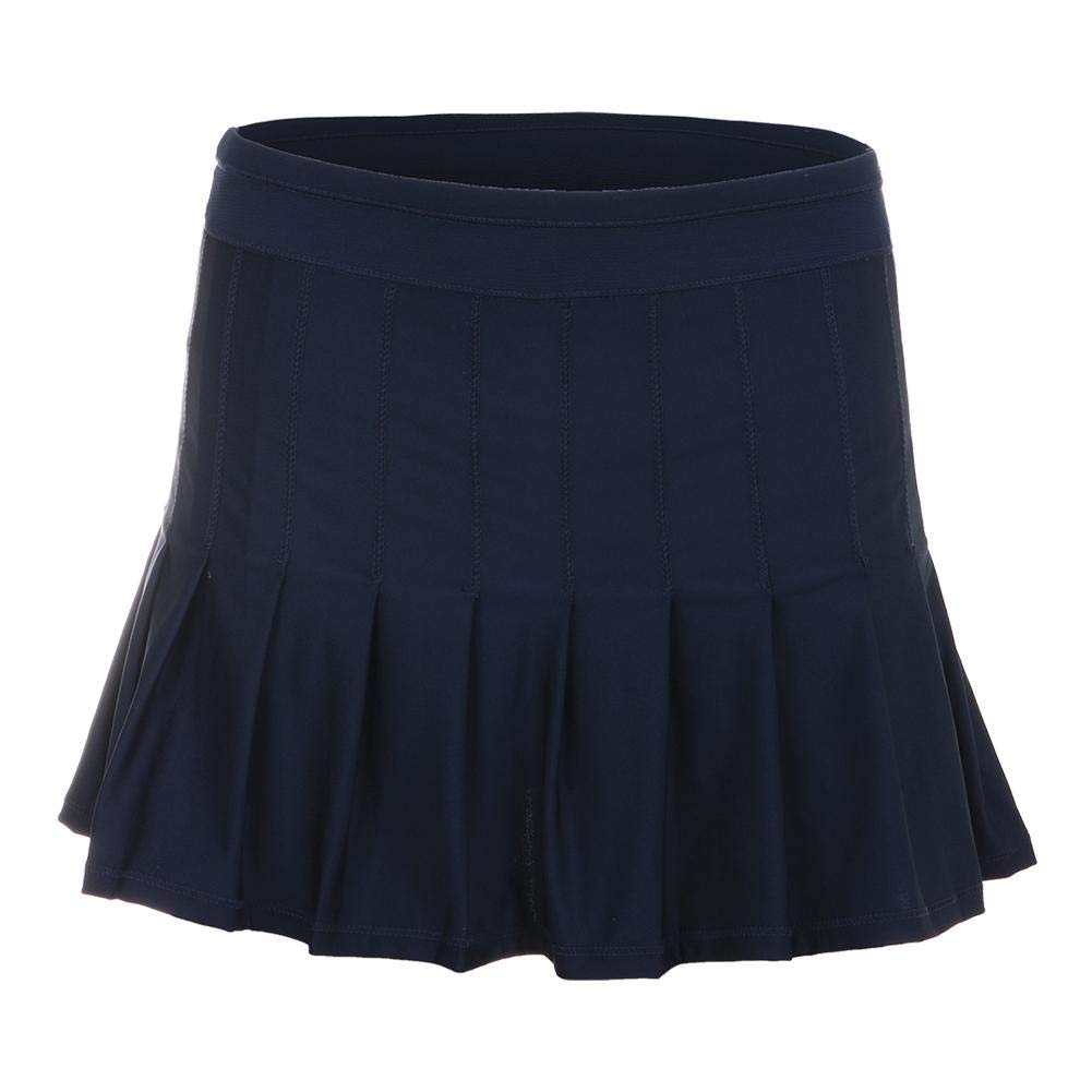Lucky In Love Ultraviolet Long Retro Pleated Skirt (Small)