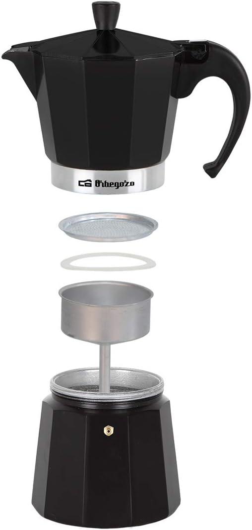 Orbegozo KFN 610 - Cafetera italiana de aluminio, capacidad para 6 ...