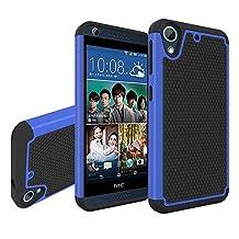 HTC Desire 626 Case, HTC Desire 626s Case, NOKEA [Shockproof] Hybrid Dual Layer Armor Defender Protective Case Cover for HTC Desire 626 / 626s (Blue)