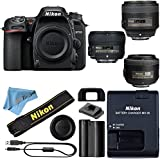 Nikon D7500 DSLR Camera With 18-140mm ED VR Lens - Includes Manufacturer Supplied Accessories (35mm + 50mm + 85mm Prime Lens f/1.8, Cloth Only)