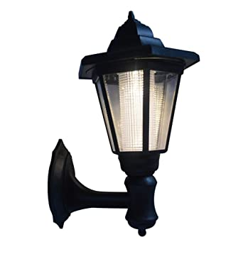 Solar powered led wall mounted light sconce lantern lamp garden solar powered led wall mounted light sconce lantern lamp garden light lamp outdoor light hexagonal mozeypictures Gallery
