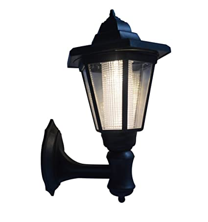 Solar Powered LED Wall Mounted Light Sconce Lantern Lamp Garden Light Lamp  Outdoor Light, Hexagonal