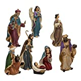 Kurt Adler Resin Nativity Figurine Set, 6.25-Inch, Set of 8