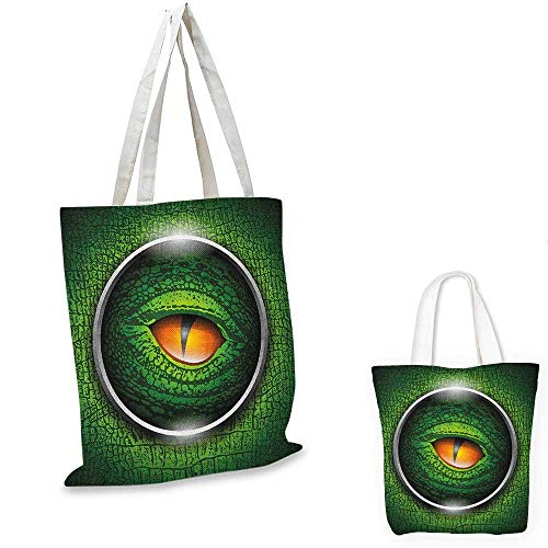 - Eye shopping bag storage pouch Vibrant Realistic Eye of Reptile Animal Natural Wildlife Scales Crocodile Look small tote shopping bag Green Orange Grey. 13