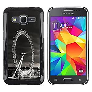 LECELL -- Funda protectora / Cubierta / Piel For Samsung Galaxy Core Prime SM-G360 -- Architecture London Viewing Wheel --