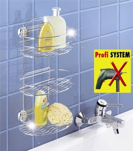 WENKO Duschregal - ohne Bohren - Bad Regal mit 3 Ablagen für Dusche ...