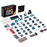 SunFounder 37 Modules Sensor Kit V2.0 for Raspberry Pi 3 Model B+ 3B 2B B+ A+ Zero, GPIO Extension Board Jump wires