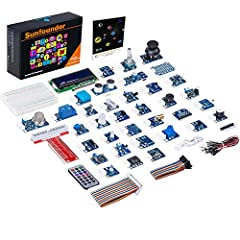 The kit is special in consisting mainly of sensor modules. Each sensor is made in the format of module which integrates some necessary components, such as comparator, resistor, and capacitor and so on, so it's convenient for circuit connectio...