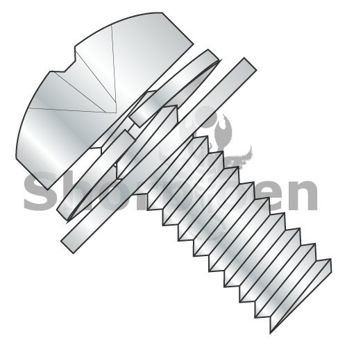 Phillips Pan Split Lock & Narrow Flat Washer Sems Fully Threaded 18 8 Stainless Steel 8-32 x 1/2 (Box of 4000) weight20.53Lbs by Korpek.com