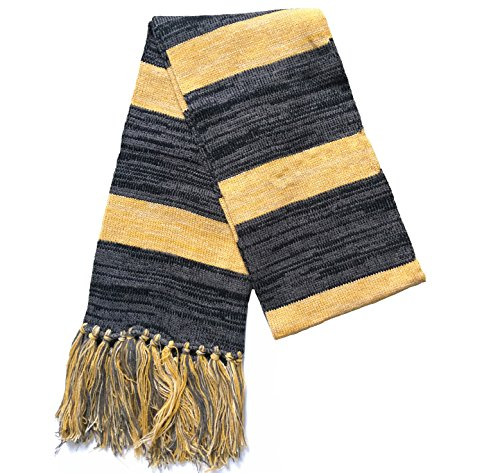 Xfang Men's wool scarf in autumn and winter long knitting scarf (Scarf (Hufflepuff House Scarf)
