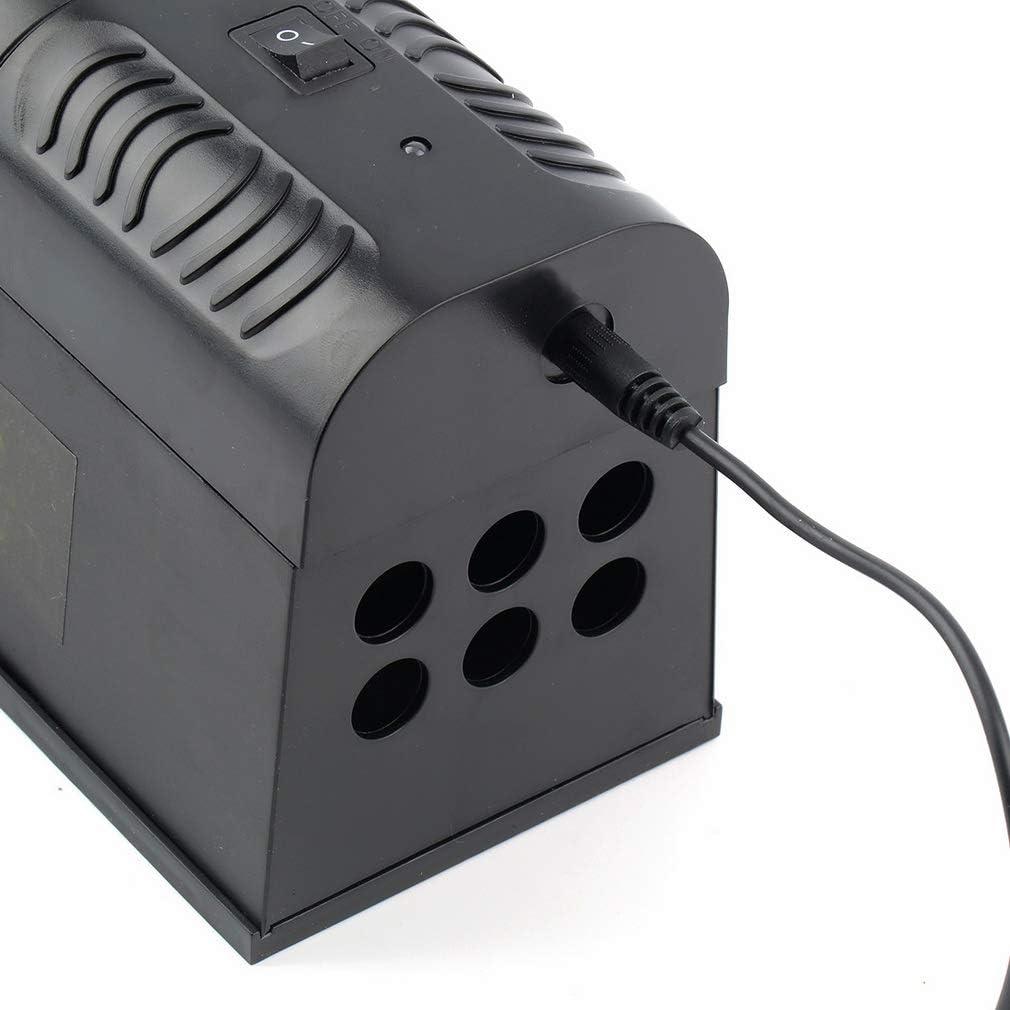 Color Negro Choque el/éctrico de Alto Voltaje Ratones Airmall Trampa electr/ónica para Ratas bater/ías o Adaptador de CA Ardillas Ratas Elimina Ardillas