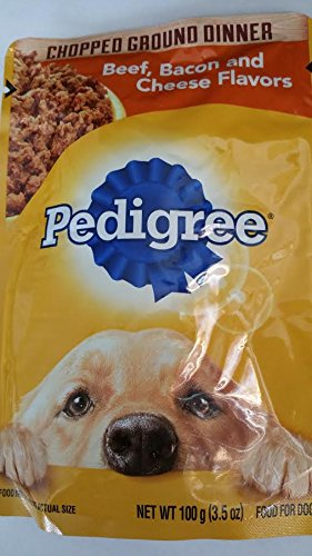 4-Pedigree Chopped Ground Dinner Beef,Bacon and Cheese Flavors (3.5 oz Each)