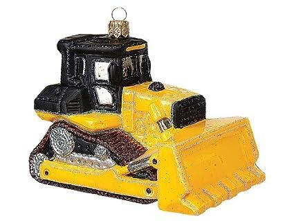 Amazon bulldozer construction vehicle polish glass christmas