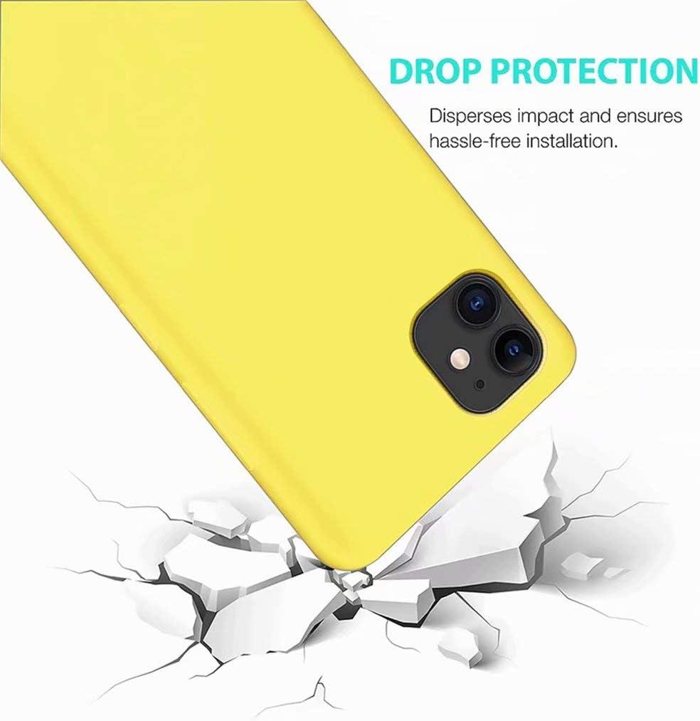 Negro CRABOT Compatible con Xiaomi Mi 10 Funda Silicona L/íquida Parachoques de Goma de Gel Delgado A Prueba de Choques Protector Caso+1 Gratis Protector de Pantalla