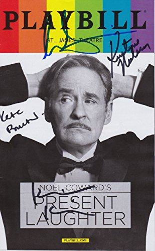 Present Laughter signed Pride Playbill