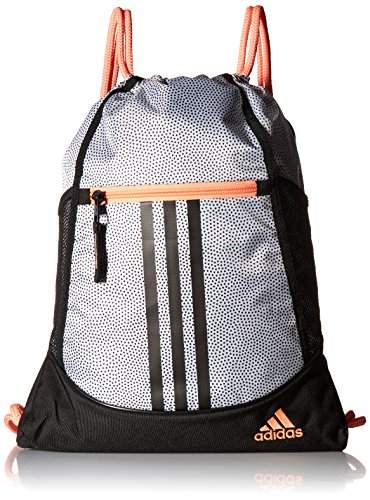 adidas Alliance II Sack Pack, One Size, White Grip/Black/Sun Glow