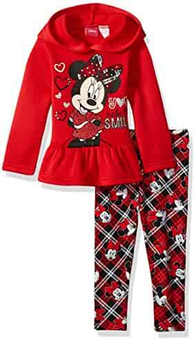 Disney Girls' Minnie Mouse 2-Piece Hooded Top and Legging Set