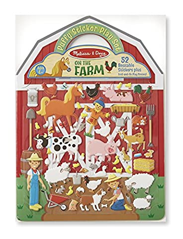 Melissa & Doug Puffy Sticker Play Set - On the Farm - 52 Reusable Stickers, 2 Fold-Out Scenes (A Sticker)