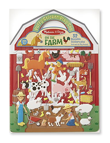 Melissa & Doug Puffy Sticker Play Set - On the Farm - 52 Reusable Stickers, 2 Fold-Out Scenes Go Go Pets Set