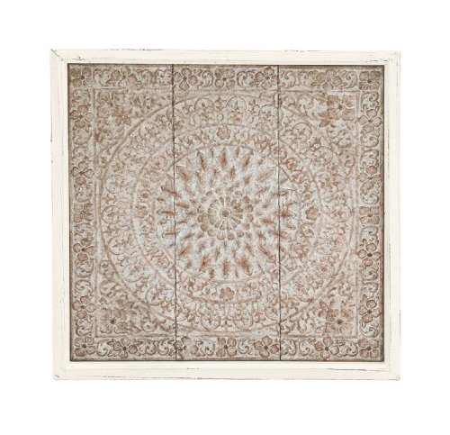 Benzara Classy Styled Metal Wood Wall Plaque Classy Home