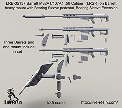 Amazon com: Live Resin 1:35 Barrett M107A1 M82A1  50 Cal
