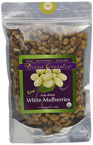 Price comparison product image Divine Organics 14oz Raw White Mulberries