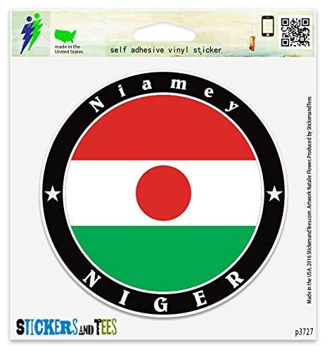 "Niger Niamey Vinyl Car Bumper Window Sticker 2"" x 2"""