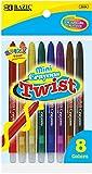 Bazic 8 Color Mini Propelling Crayon 144 pcs sku# 816487MA
