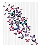 Chaoran 1 Fleece Blanket on Amazon Super Silky Soft All Season Super Plush Butterflies Decoration etMany Different Butterflies Big Wingstylish Feminine Companionship Fun Accessories Extralong