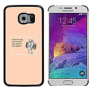 TECHCASE**Cubierta de la caja de protección la piel dura para el ** Samsung Galaxy S6 EDGE SM-G925 ** Technology Addiction Love Funny Quote