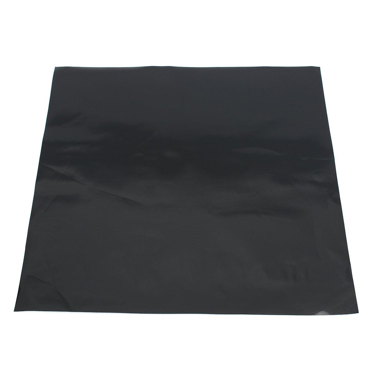 QOJA 300x300x0.6mm black silicone rubber sheet self adhesive pad