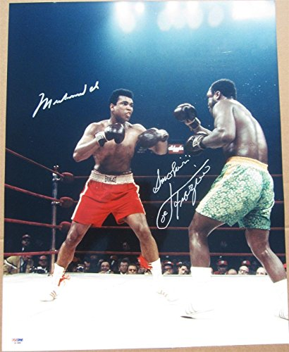 Muhammad Ali Joe Frazier 2x signed 16x20 Photo 1st Fight MSG auto - PSA/DNA Certified - Autographed Boxing Photos (Joe Frazier Autograph)