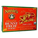 Annie's Homegrown Organic Bunny Fruit Snacks, Sunny Citrus 0.8 oz Each / Pack of 5