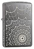 Zippo Spider Web Black Ice Pocket Lighter