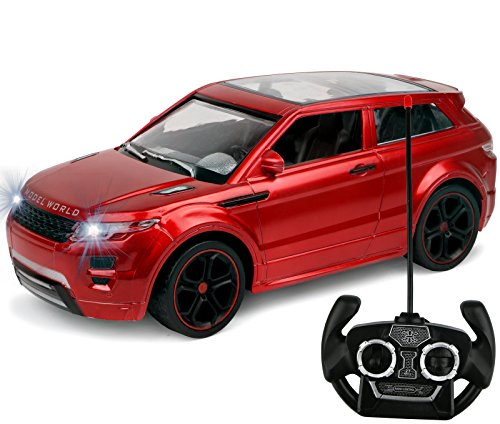 Kiddie Play RC Remote Control SUV Toy Car for Kids 1/14 Scale (Metallic Red) (Range Rover Remote Control compare prices)
