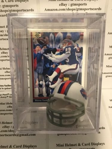 Steve Tasker Buffalo Bills Mini Helmet Card Display Collectible Shadowbox Auto Autograph
