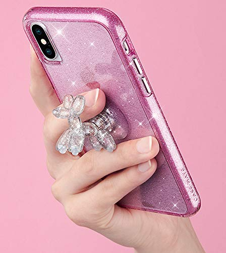 Case-Mate - Phone Holder - Stand UPS - Balloon Dog - Phone Stand - Sheer Crystal - Clear