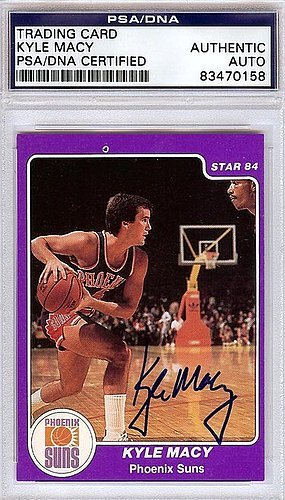 Kyle Macy Signed 1984 Star Card #114 - PSA/DNA Authentication - NBA Basketball Trading - Macys Online Card