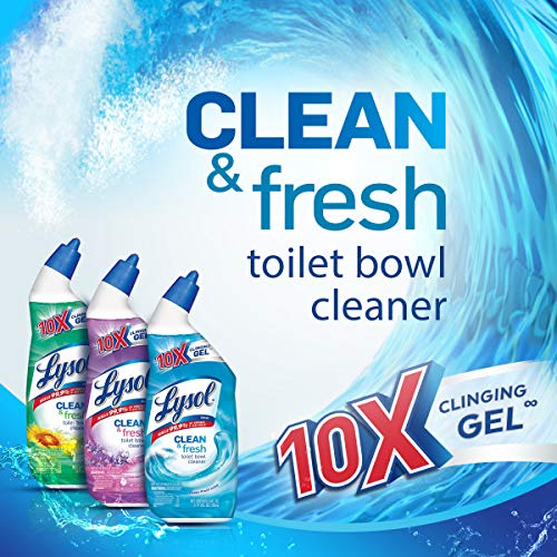 Lysol Power & Fresh Toilet Bowl Cleaner, Ocean Fresh, 24oz Pack of 8