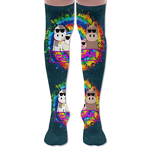 dce527574 Go Vegan Animal With Cool Glasses Women s Over The Knee High Leggings Knee  High Socks Thigh