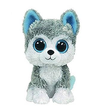 Amazon.com   1pc18cm Hot Sale Ty Beanie Boos Big Eyes Husky Dog Plush Toy  Doll Stuffed Animal Cute Plush Toy Kids Toy   Baby 688753a1e86