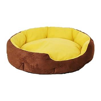 DSAQAO Cama Perro Oval Suave de Lujo, Plegable Nido Camas Perro Cama del Gato del Animal doméstico-D Medium: Amazon.es: Deportes y aire libre