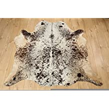 Western Cowhide Rug - Beautiful Salt & Pepper - Luxurious Cowhide Rug - Approx 160 cm x 155 cm - D17