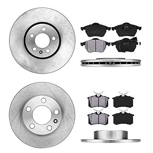 AR 232 mm Premium OE 5 Lug [4] Rotors + [8] Metallic Brake Pads ()