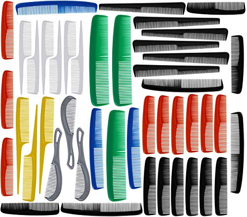 American Comb FreeStyle Unbreakable Multi-Size Combs, 45-Piece Bulk Pack